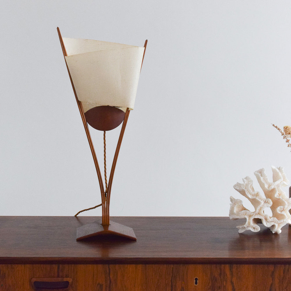 Vintage Unique David Pye Prototype Modernist Table Lamp with Textured Shade