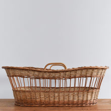 Load image into Gallery viewer, Vintage Wicker / Rattan Baby's Moses Basket / Bassinet