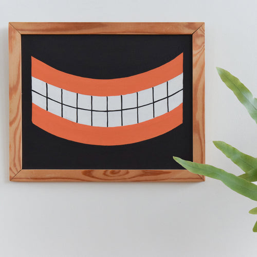 Peter Markey 'Smile With Teeth' Small Emulsion Painting 2003