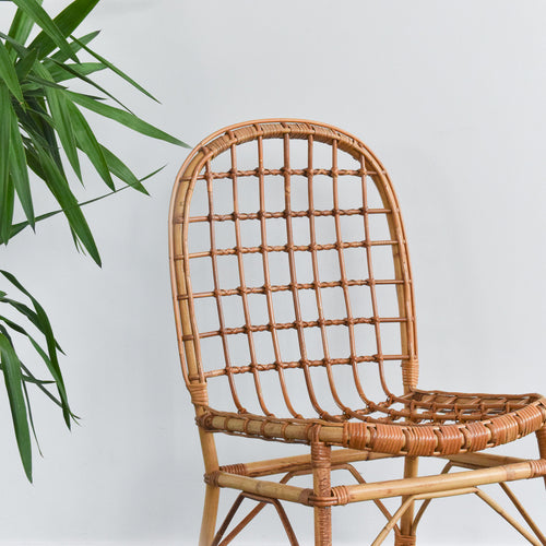 Vintage Bamboo / Cane Chair - B