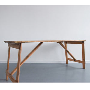Vintage Rustic Wooden Folding Trestle Table
