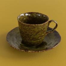 Load image into Gallery viewer, Vintage 8 Piece Studio Stoneware Tea Cup and Saucer Set