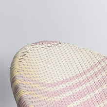 Load image into Gallery viewer, Vintage Pink and White Wicker Satellite Chair
