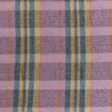 Load image into Gallery viewer, Vintage Wool Purple Checked Pattern Blanket