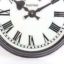 Load image into Gallery viewer, Black Enamel Synchronome Wall Clock