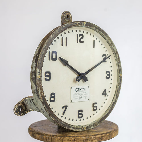 CAST GENTS FACTORY WALL CLOCK