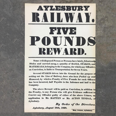 Aylesbury Railway rewards print