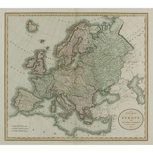 A New Map of Europe From the Latest Authorities - John Cary 1804