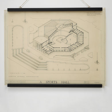 Architects drawing of 'A Sports Hall'