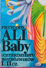 Load image into Gallery viewer, Adventures of Ali Baba and the 40 Thieves 1981 Polish Film Poster - detail 2
