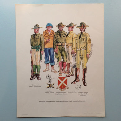 Vintage American Military Uniform - Watercolour 2