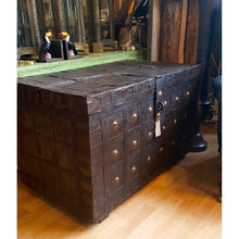 Load image into Gallery viewer, Antique Metal Bound Trunk