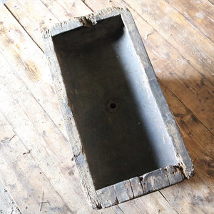 Antique Rustic Wooden Fromagerie Sink Basin