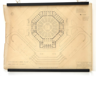 Architects drawing of 'Auditorium Floor Plan'