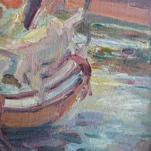 Load image into Gallery viewer, Late 19th century Oil on Board - Waiting for the Tide; Tréport