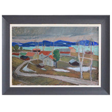 Load image into Gallery viewer, Mid-century Painting - 'View towards Ansjö, Kälarne' - Johan Hedman