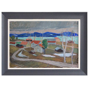 Mid-century Painting - 'View towards Ansjö, Kälarne' - Johan Hedman