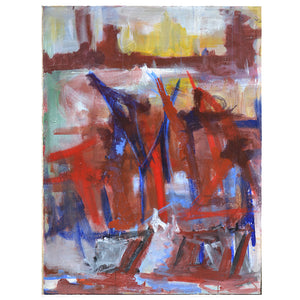 1970s, Large French Abstract Painting