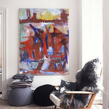 Load image into Gallery viewer, 1970s, Large French Abstract Painting