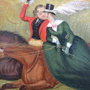 Mid 19th Century Painting, 'The Kiss'