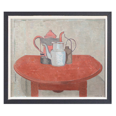 Swedish Painting, 'The Red Table,' SÖLVE OLSSON