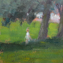 Load image into Gallery viewer, 1945, Oil on Board, 'Afternoon in the Park,' Georges Guerin (1910-)