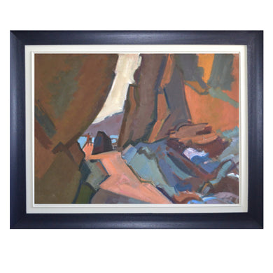 20thC French Oil Painting, 'Rock Pooling'