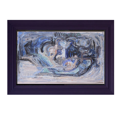 Swedish, 20th Century, Blue Abstract