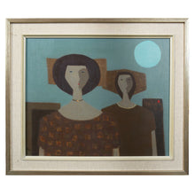 Load image into Gallery viewer, Mid Century Oil - 'two Woman' - Fabian Lundqvist