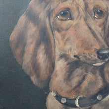 Load image into Gallery viewer, C.1890 Oil on Canvas Board - Fred the Dachshund, 3 Years