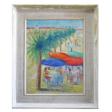 1951 Painting - 'French Riviera' - Yvonne Bey