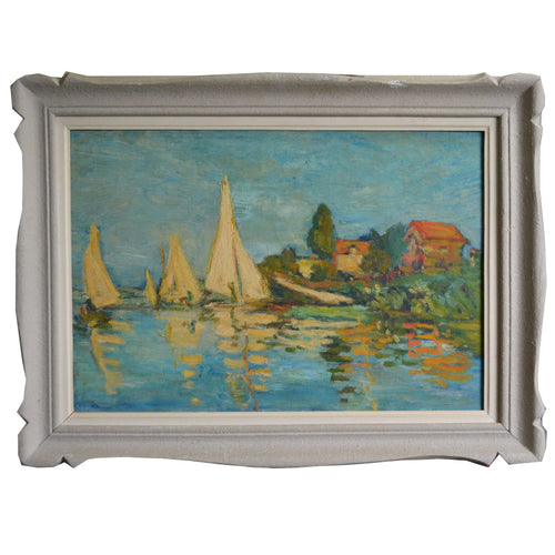 1940, French Painting, 'Yachting in the Bay'