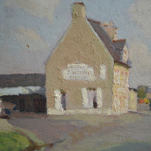 1940 Painting 'Sunny French Village'