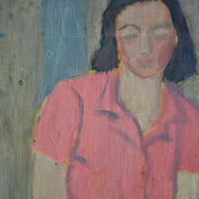 Load image into Gallery viewer, 1940s Painting, 'Girl in a Red Blouse'