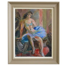 Load image into Gallery viewer, 1950 Swedish Painting, 'Dancer' JULES SCHYL