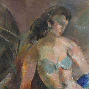 1950 Swedish Painting, 'Dancer' JULES SCHYL