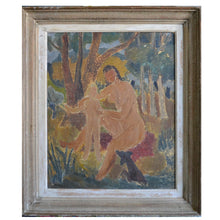 Load image into Gallery viewer, 1950s French Painting 'Bathers' JOSYN GALLET (1928-2016)