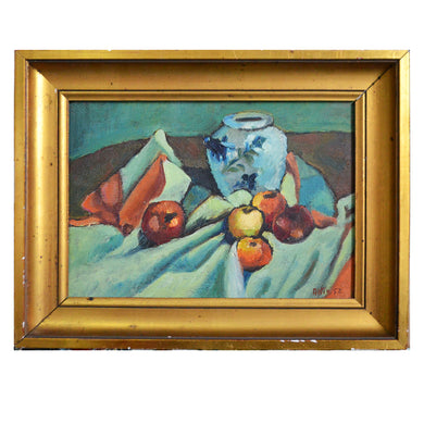 1952, French, Still Life Painting, 'Apples'