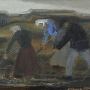 1952 Painting, 'Reapers' by Fabian Lundqvist