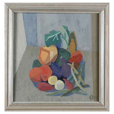 1959, Still Life Painting 'Fruit and Vegetables' by Ejva Damm
