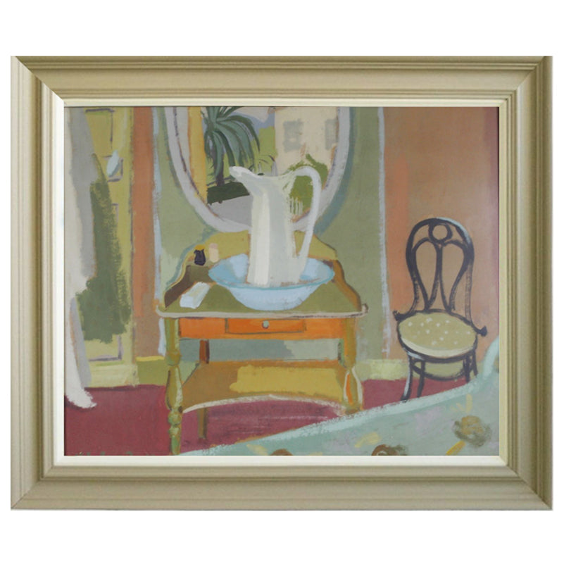 1957, Oil Painting - 'The Washstand'' Eva Holmberg-Jacobsson