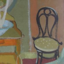 Load image into Gallery viewer, 1957, Oil Painting - 'The Washstand'' Eva Holmberg-Jacobsson