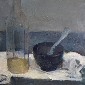 Large, 1950 Painting, 'Still Life with Black Jug,' Jean Langlois (1923-2014)