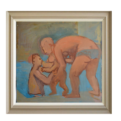 Large, 1975 Painting, 'Bathers,' Jean Langlois (1923-2014)