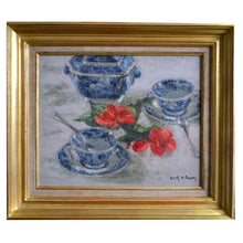 Load image into Gallery viewer, Mid-Century, French Painting,' Tea for Two' Edith Fausson