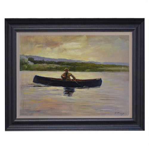 Mid-century, Scottish Impressionist Painting, 'Loch Fishing'