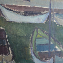Load image into Gallery viewer, Mid century Painting 'Boats in Torekov' ALLAN ERWÖ