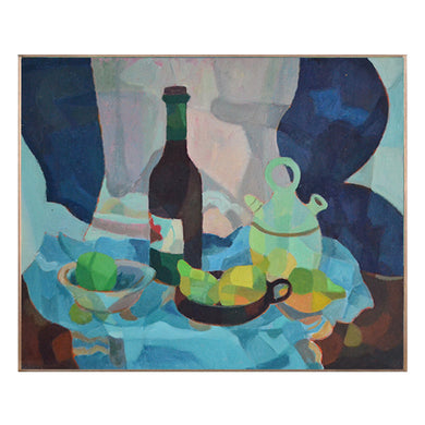 Painting, 'Bottle and Olive Jar' Horas Kennedy (1917-1997)