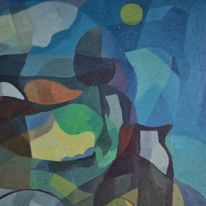 Painting, 'Under the Moon' Horas Kennedy (1917-1997)