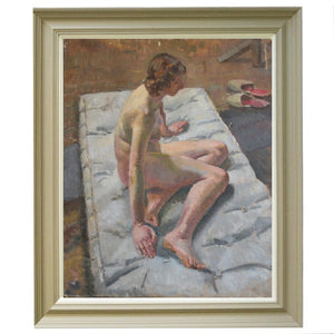 'Nude on a Mattress' Philippa Maynard Romer (1929-2010)